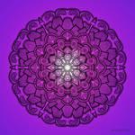 Mandala Drawing 21 PURPLE