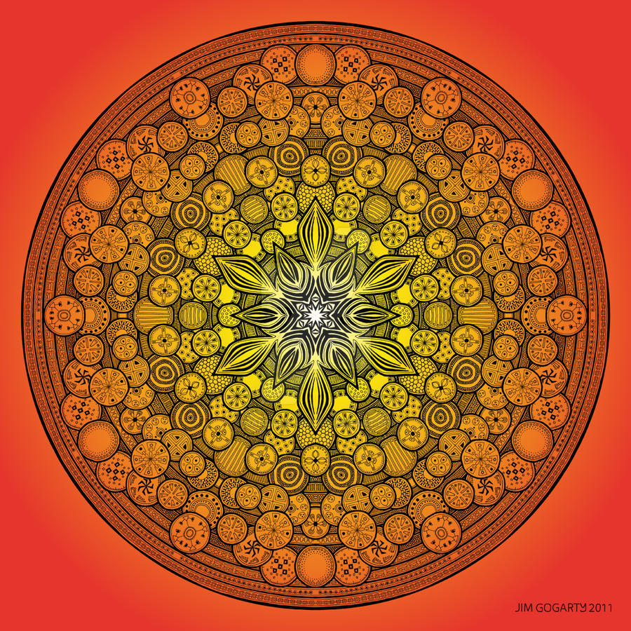 The mandala coloring book jim gogarty - Mandala Drawing 26 Orange By Mandala Jim