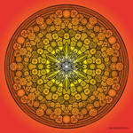 Mandala drawing 26 ORANGE