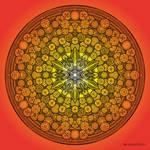 Mandala drawing 26 ORANGE