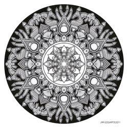 Mandala drawing 32 by Mandala-Jim
