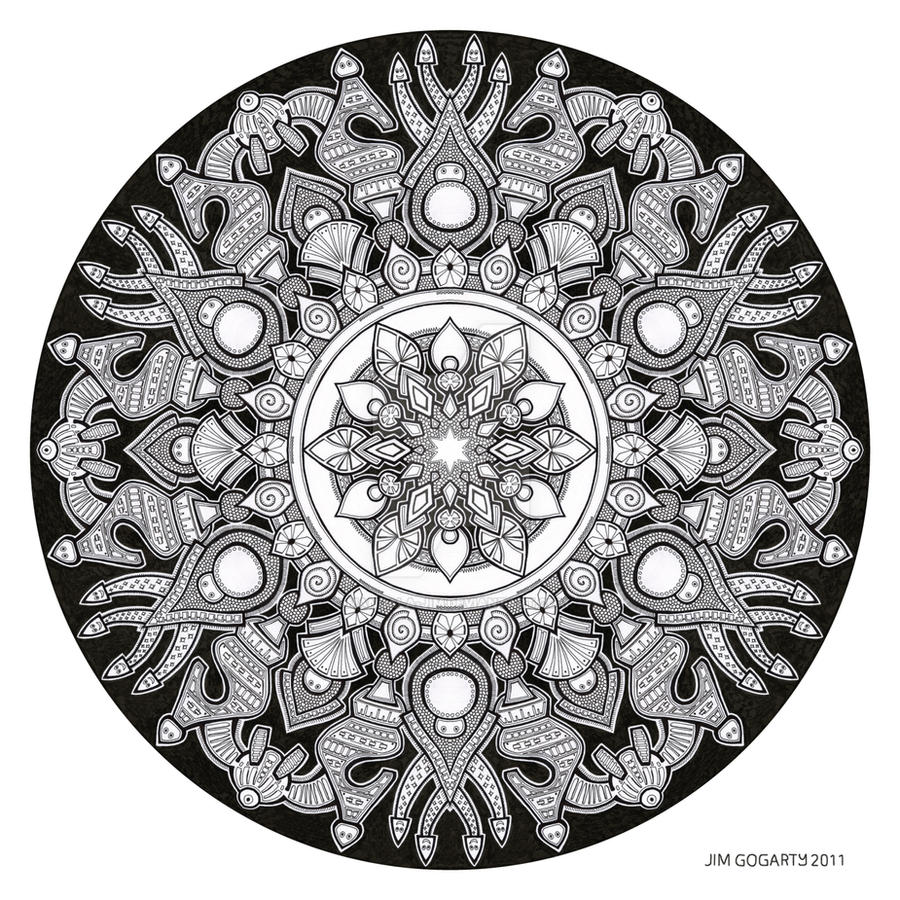 The mandala coloring book jim gogarty - Mandala Drawing 32 By Mandala Jim