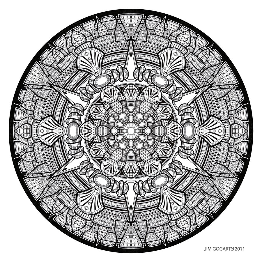 The mandala coloring book jim gogarty - Mandala Drawing 33 By Mandala Jim