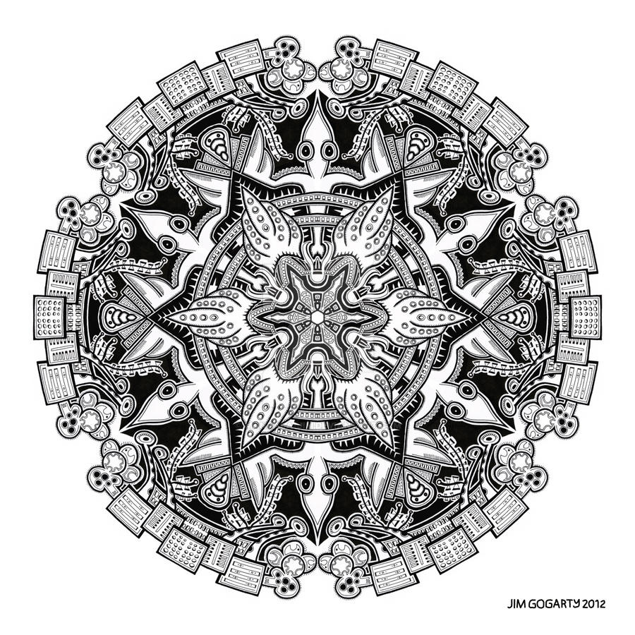 Mandala drawing 34 by Mandala-Jim
