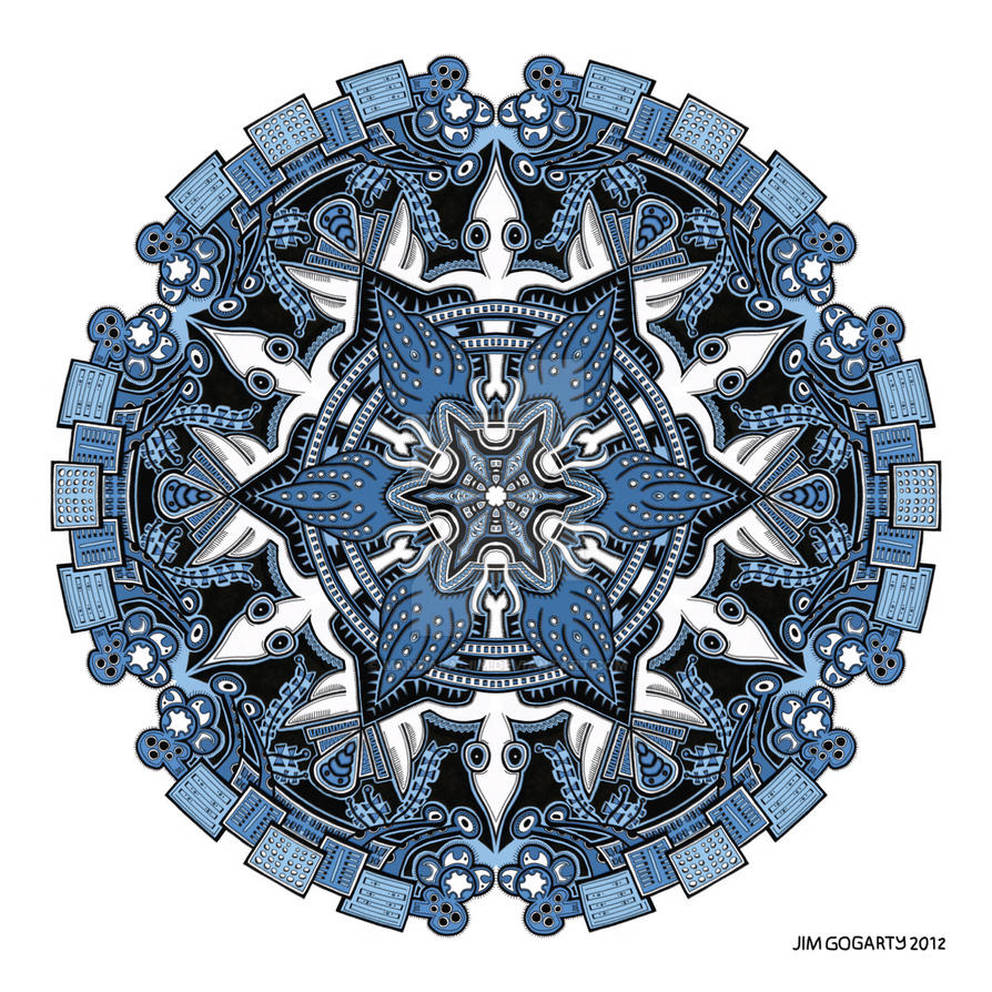 Mandala drawing 34 Coloured v1 by Mandala-Jim