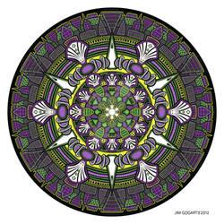 Mandala drawing 33 Coloured v1