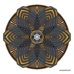Mandala drawing 39 Coloured v1