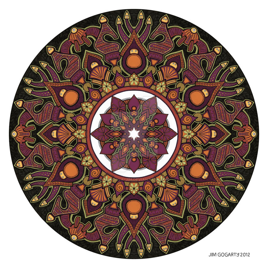 Mandala drawing 32 Coloured v1 by Mandala-Jim