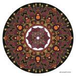 Mandala drawing 32 Coloured v1