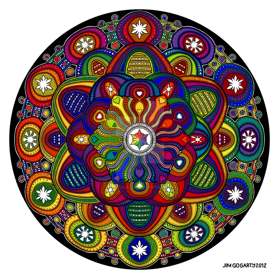 Mandala 42 - Rainbow coloured by Mandala-Jim