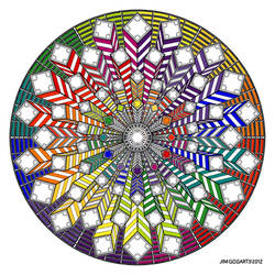Mandala 38 - Rainbow coloured