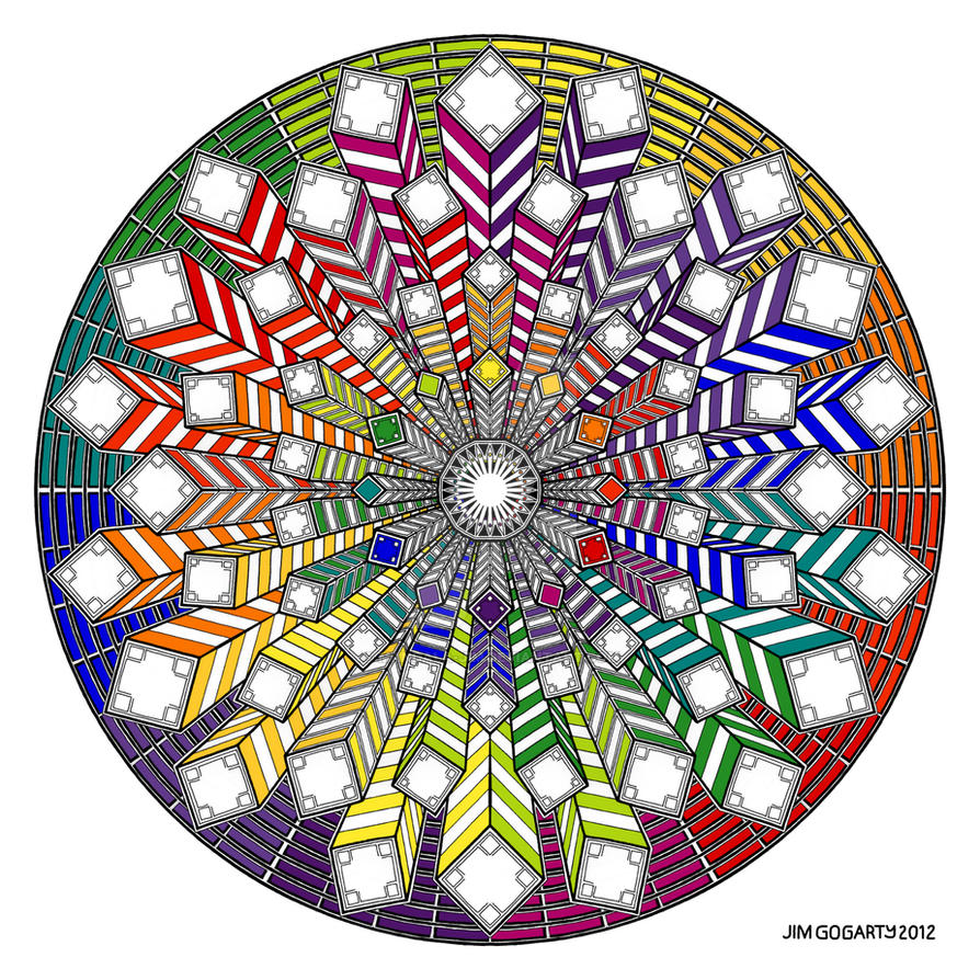 Mandala 38 - Rainbow coloured by Mandala-Jim