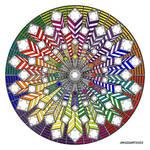 Mandala 38 - Rainbow coloured