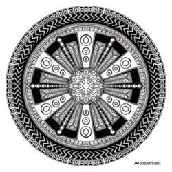 Mandala hand drawing 43 by Mandala-Jim