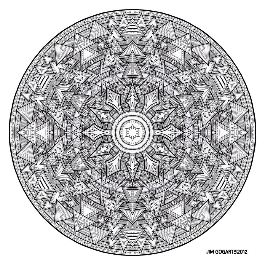 Mandala hand drawing 44 by Mandala-Jim