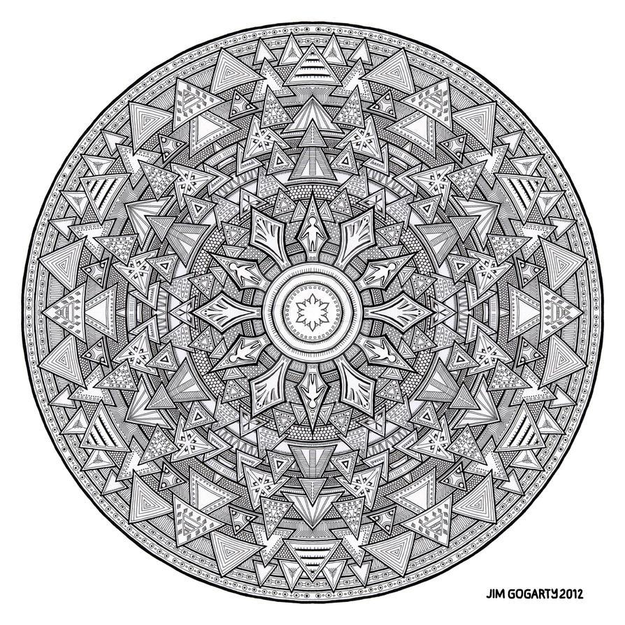 Mandala hand drawing 44 by Mandala-Jim
