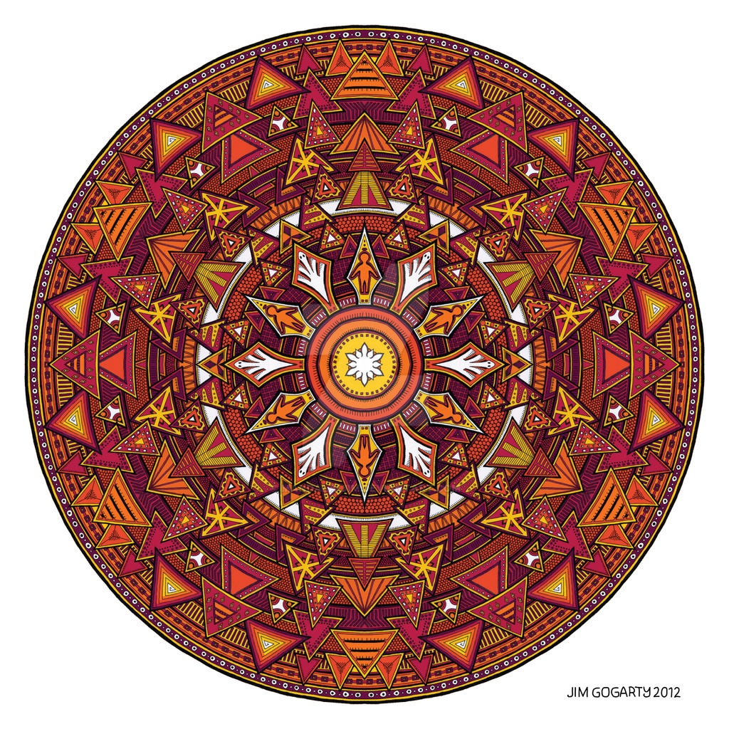 Mandala 44 coloured 1.0 by Mandala-Jim