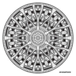 Mandala hand drawing 45