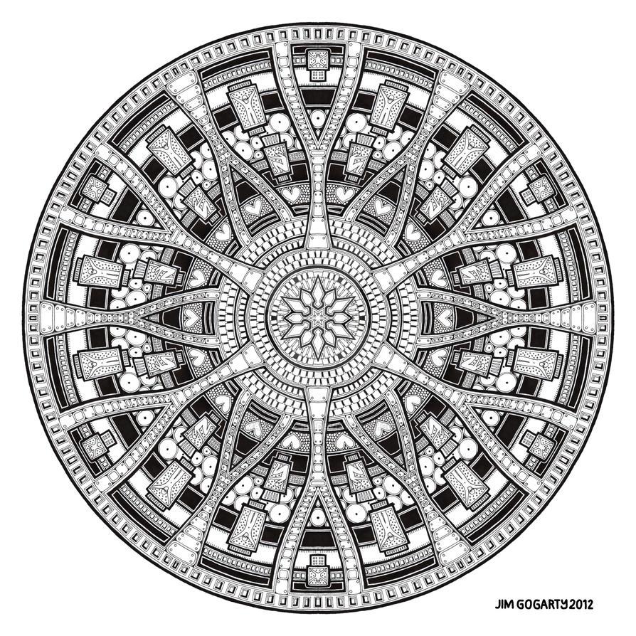 Mandala Hand Drawing 45 By Jim