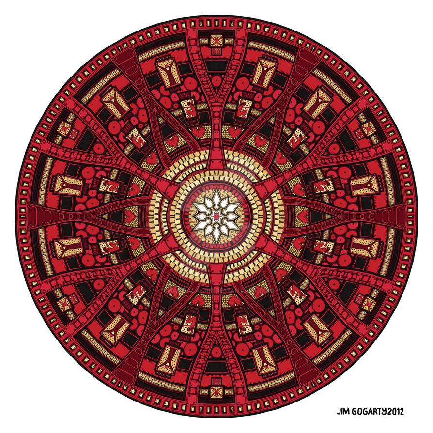Mandala 45 coloured 1.0 by Mandala-Jim