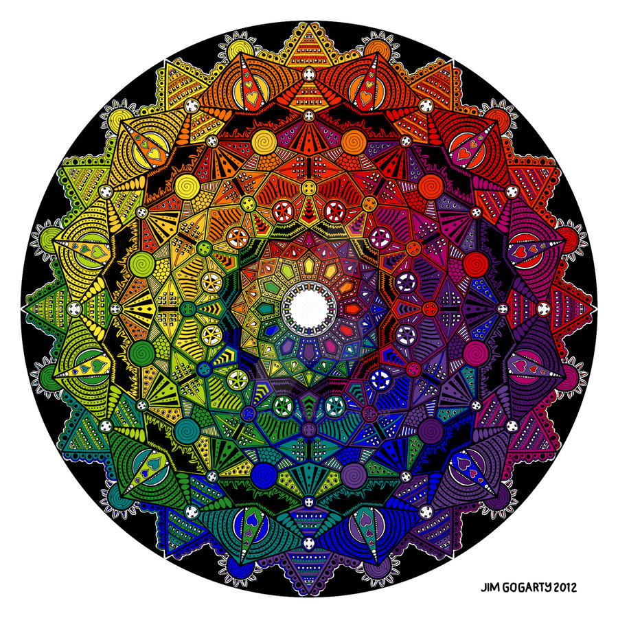 Mandala 46 Rainbow by Mandala-Jim