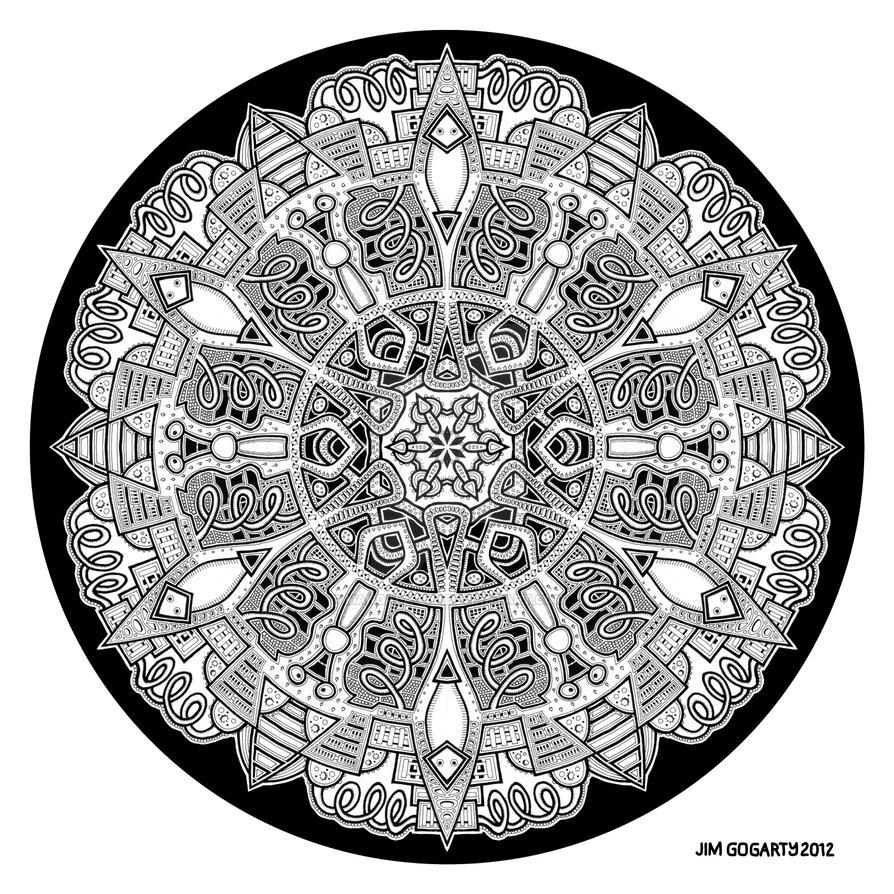 Mandala hand drawing 47 by Mandala-Jim