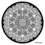 Mandala hand drawing 47