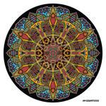 Mandala drawing 47 coloured 1.0
