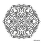 Mandala hand drawing 48