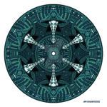 Mandala 49 Coloured Blue