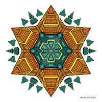 Mandala drawing 51 coloured