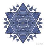 Mandala drawing 51 coloured v2