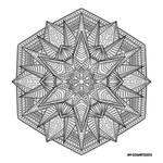 Mandala hand drawing 53
