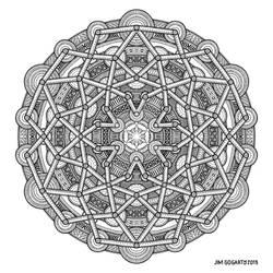 Mandala drawing 57
