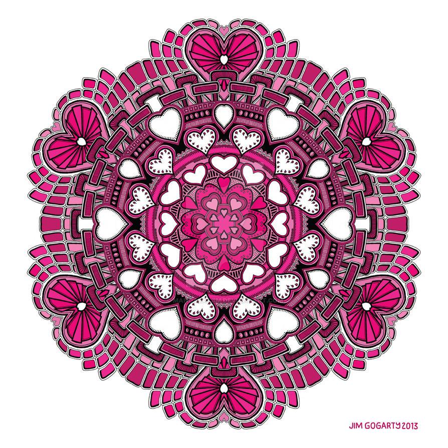 Valentine Mandala 58 Coloured by Mandala-Jim
