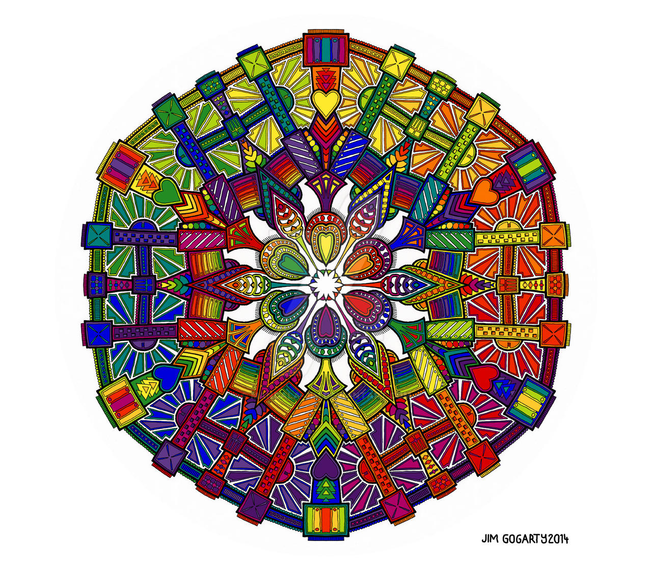 The mandala coloring book jim gogarty - Mandala Jim 198 157 Mechanical Petal By Mandala Jim