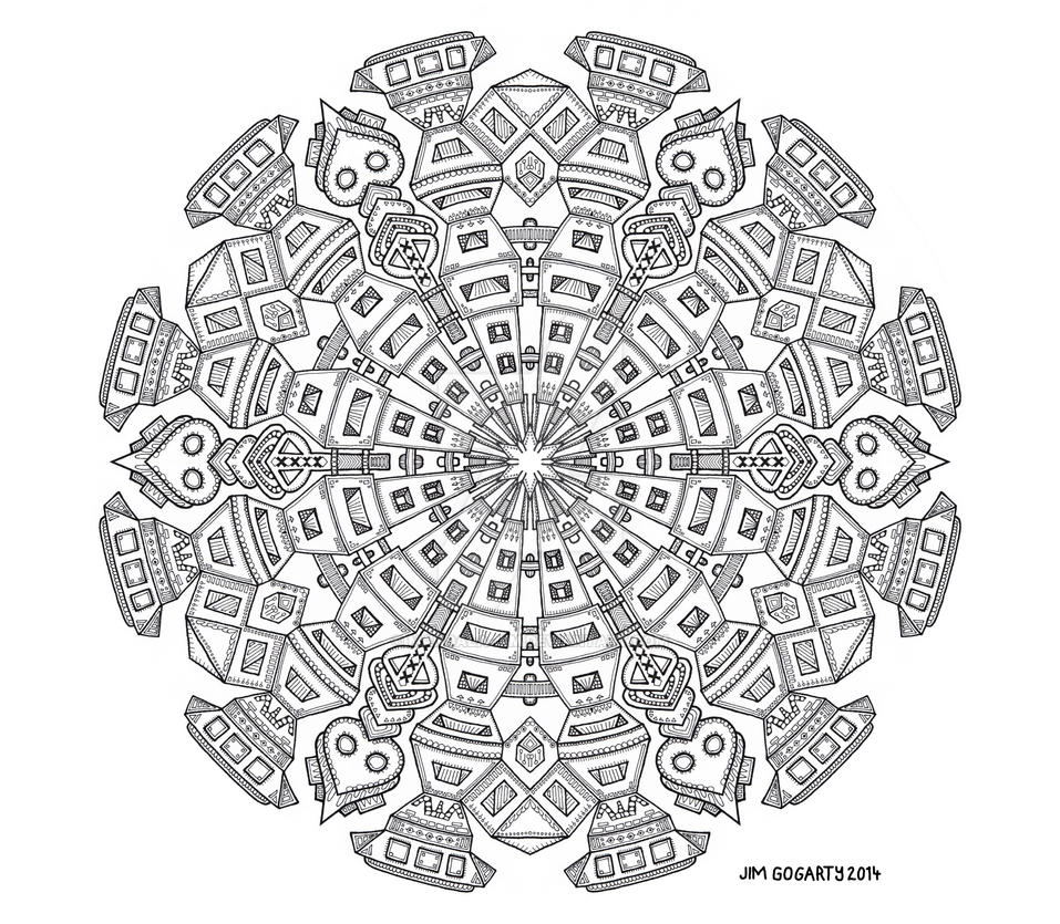 The mandala coloring book jim gogarty - The Maker By Mandala Jim