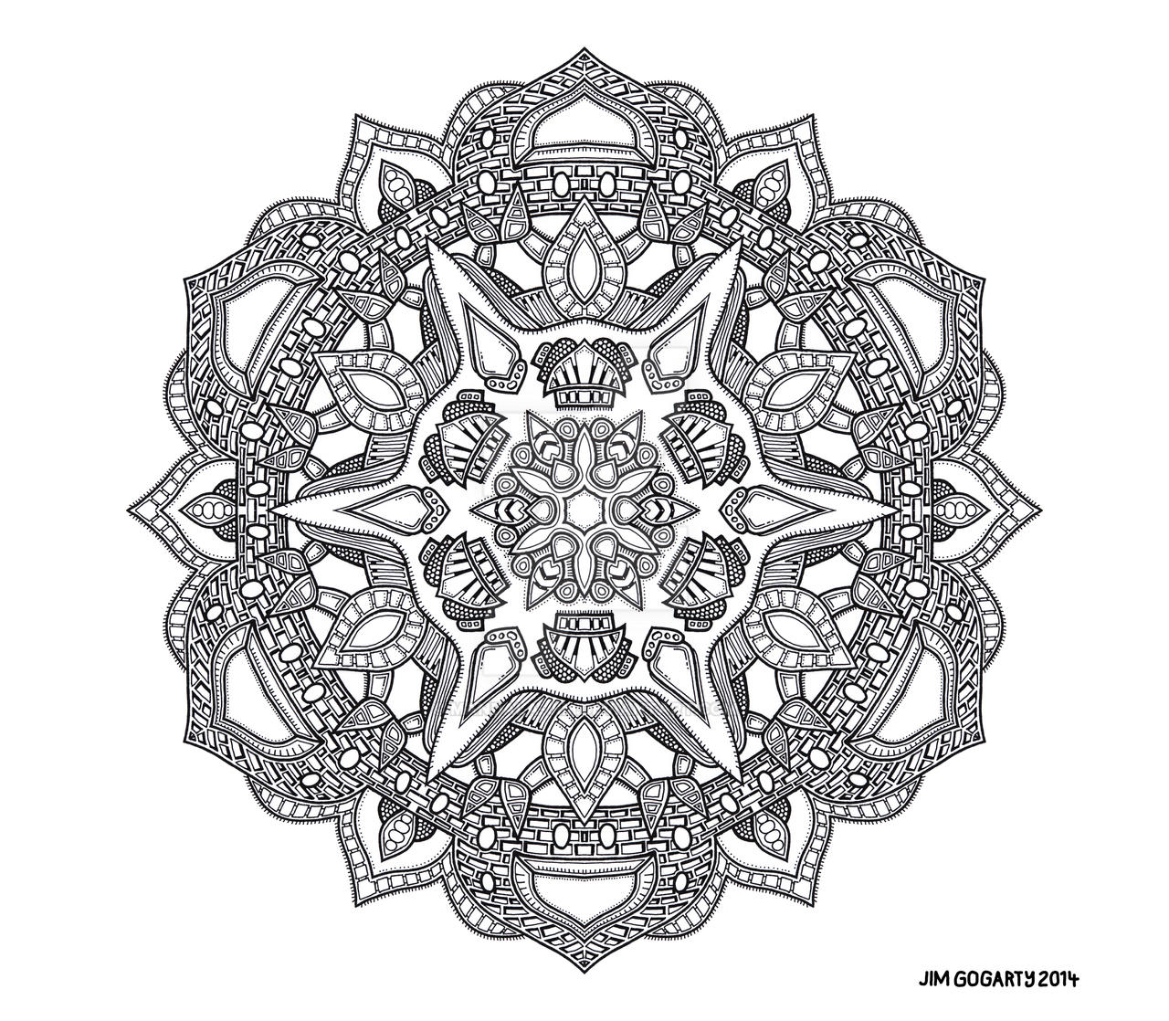 The mandala coloring book jim gogarty - Ornate Beginning By Mandala Jim