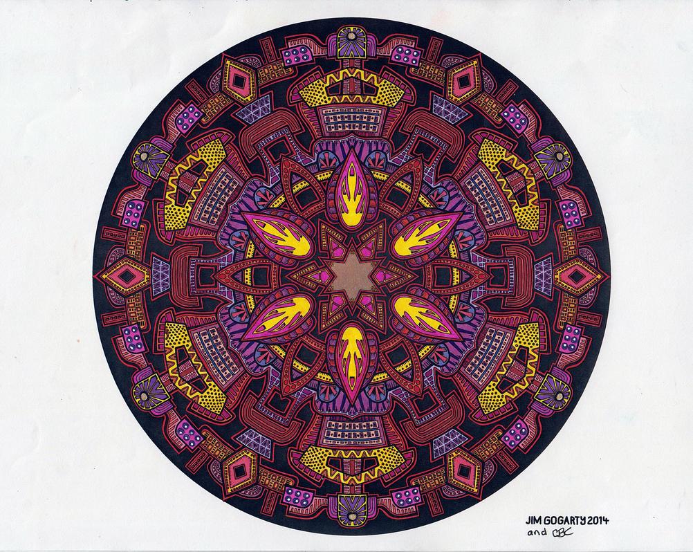 Gorgeous collaboration by Mandala-Jim