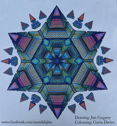 Colourful Star Mandala