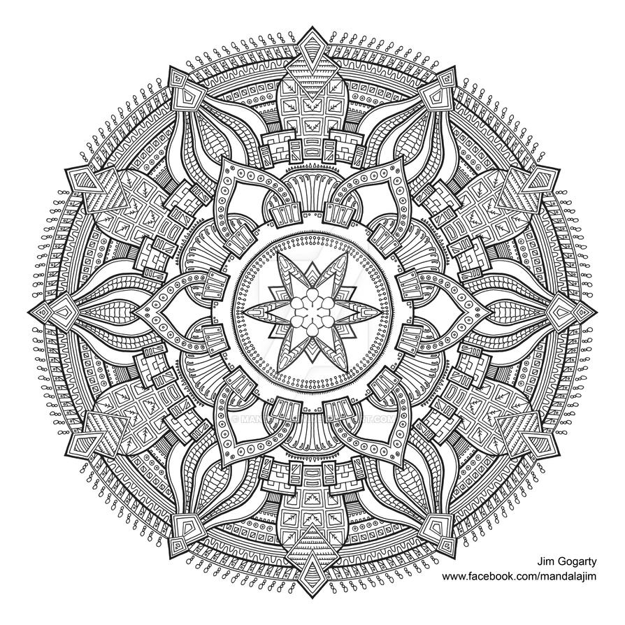 Awesome Coloring Book Mandala Pictures