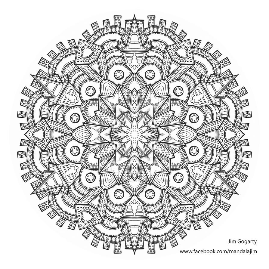 Preview of Advanced Mandala A3 Coloring Book 2 by Mandala-Jim on ...