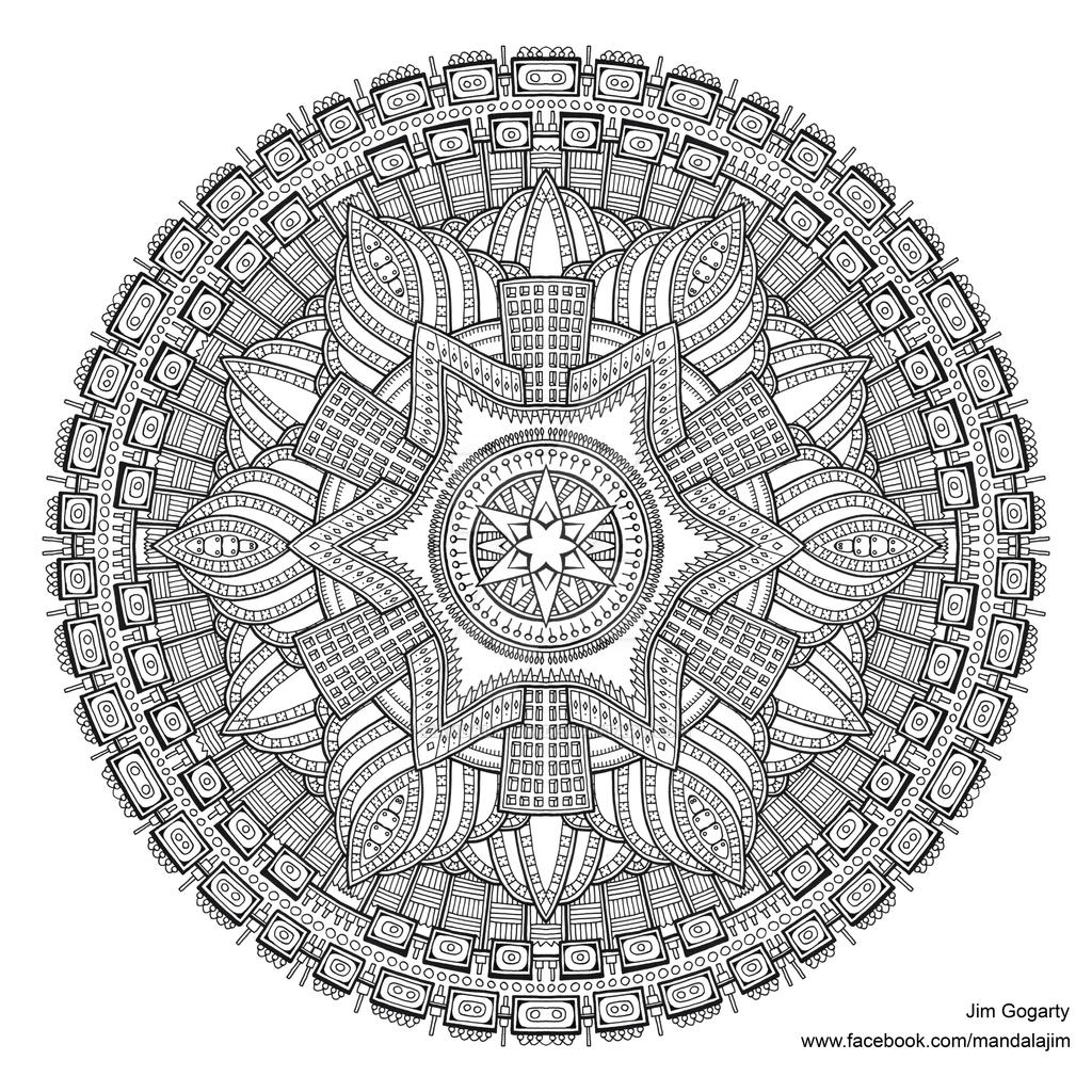 The mandala coloring book jim gogarty -  Preview Of Advanced Mandala A3 Coloring Book 2 By Mandala Jim