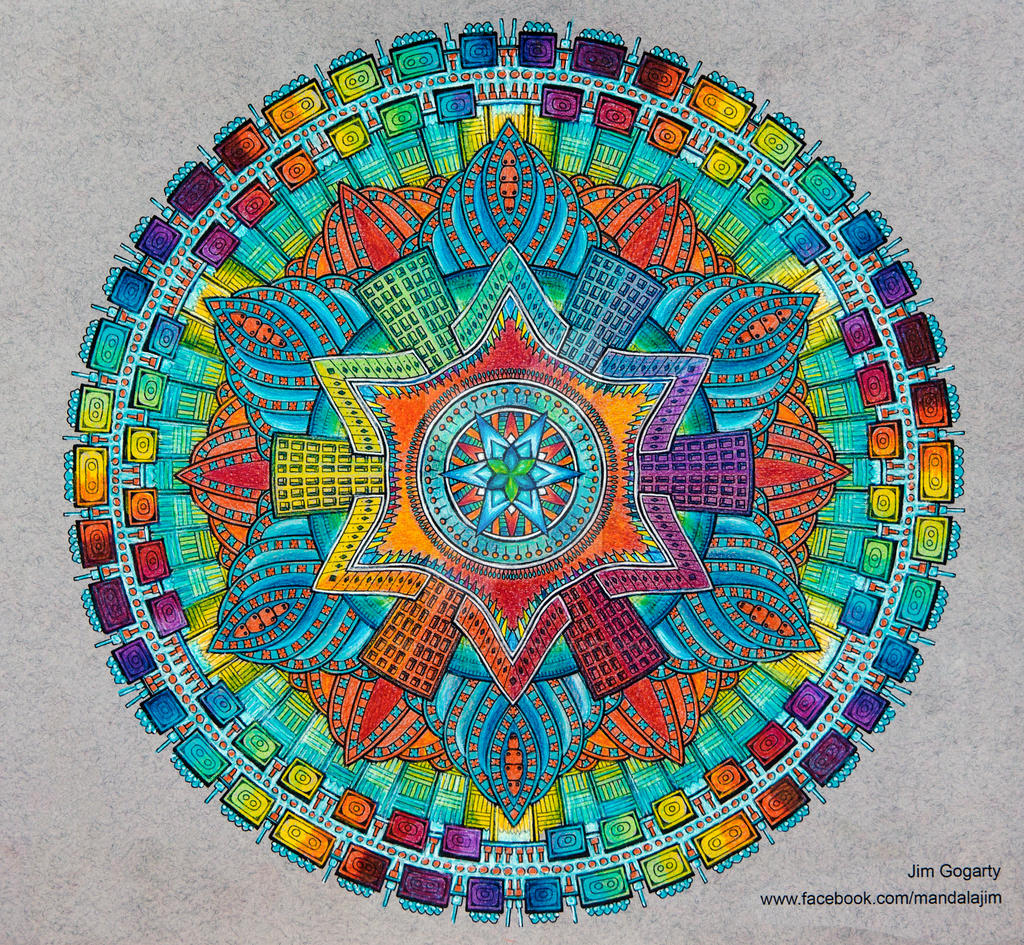 The mandala coloring book jim gogarty - Mandala Jim 6 5 Advanced Mandala A3 Coloring Book 2 Collaboration By Mandala Jim