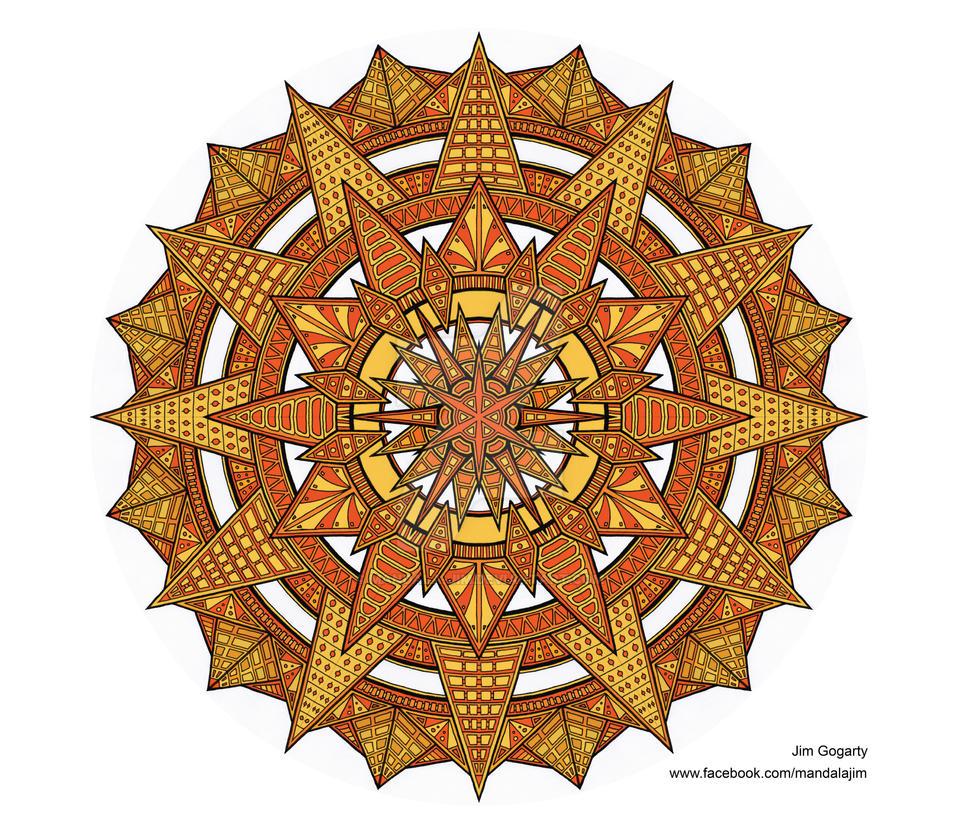 Orange Beginning by Mandala-Jim