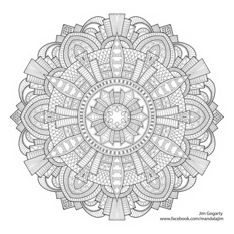 Black and white flower by Mandala-Jim