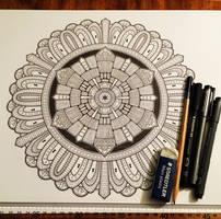 Advanced Mandala Colouring Book Vol 2 - Pic 1 / 2