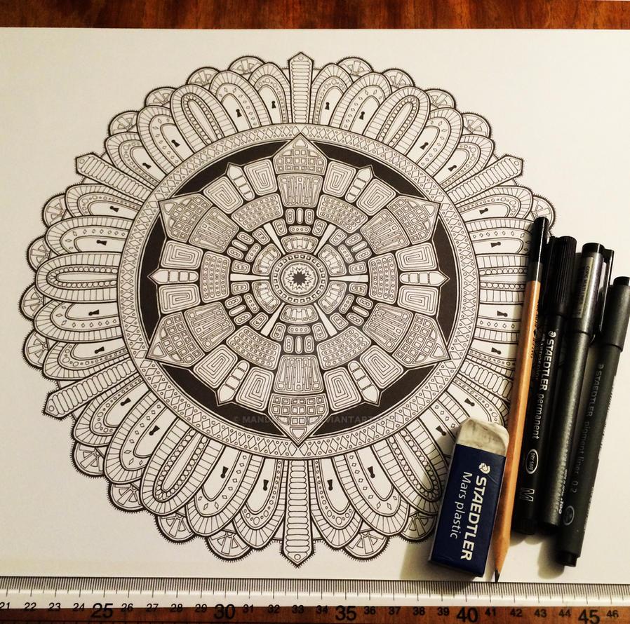 Advanced Mandala Colouring Book Vol 2 - Pic 1 / 2 by Mandala-Jim