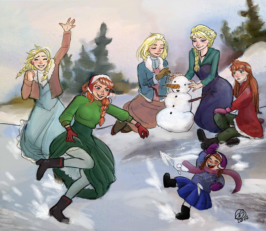 COMMISSION #26 - Arendelle Royal Family by ViennaOrlando