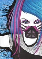 Cyber goth girl by Miss-Chili